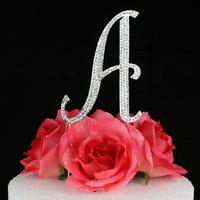 monogram cake toppers