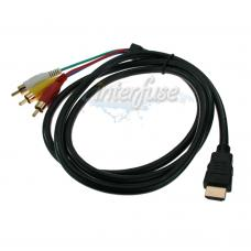 3 RCA AV to HDMI  Audio Video Cable Cord Adapter for 1080P HDTV DVD