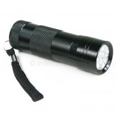 Black 12-LED Ultra Violet UV Purple Scorpion Flashlight