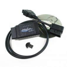 Interfuse ELM327 OBD2 Bluetooth Car Diagnostic + CD USB Right Angle Cable