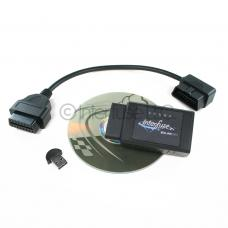 Interfuse ELM327 OBD2 Bluetooth Diagnostic Scanner + CD USB Extension Cable