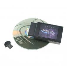 Interfuse LE ELM327 OBD-II Bluetooth Diagnostic Scanner + Software CD & USB