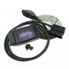 Interfuse LE ELM327 OBD2 Bluetooth Car Diagnostic + CD USB Right Angle Cable
