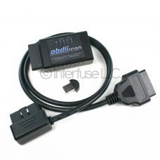 OBD-II Scan ELM327 v2.1 Bluetooth Diagnostic Scanner w/ USB & Angle Cable