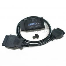 OBD-II Scan ELM327 v2.1 Bluetooth Diagnostic Scanner w/ USB & Extension Cable