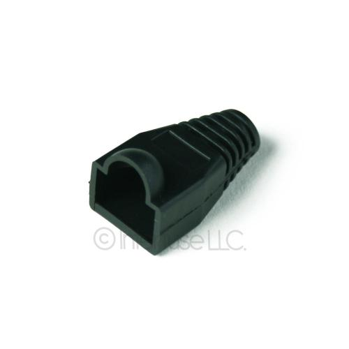 Black RJ45 Cat 5e 6 Ethernet Network Modular Connector End Cap Boot