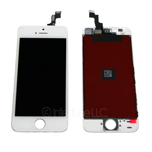 White Touch Screen Glass Digitizer LCD Assembly for iPhone 5S