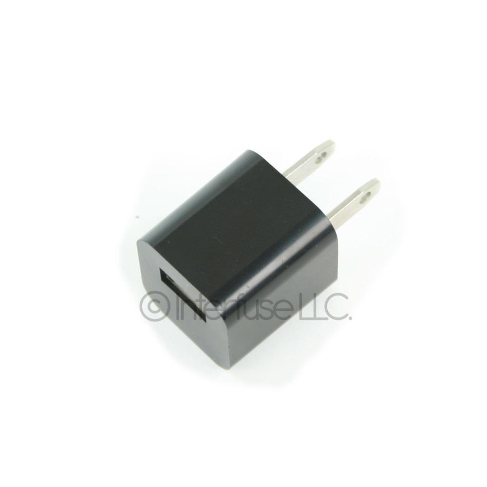 Black USB Power Adapter Plug Wall Charger IPod Touch IPhone 3G 4G