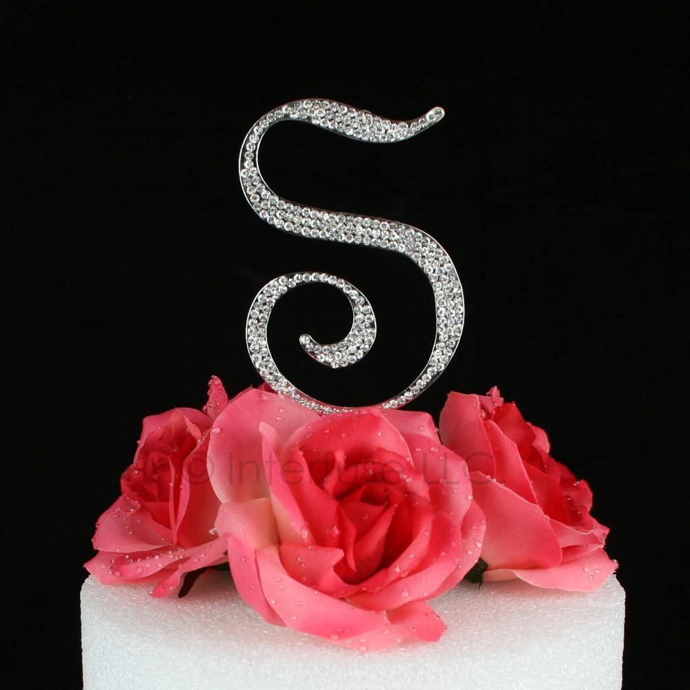 W Monogram Cake Topper