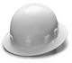 White Full Brim 4 Point Ratchet Sleek Shell Hard Hat