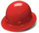 Red Full Brim 4 Point Ratchet Sleek Shell Hard Hat